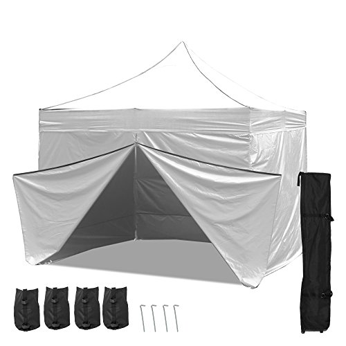 Cheap Punchau Commercial Pop Up Canopy Tent 10 x 10 Feet – UV Coated, Waterproof Outdoor Party Gazebo Tent