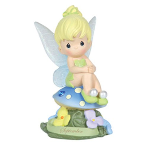 Precious Moments, Disney Showcase Collection,  September Fairy As Tinker Bell, Sapphire, Resin Figurine, 113216