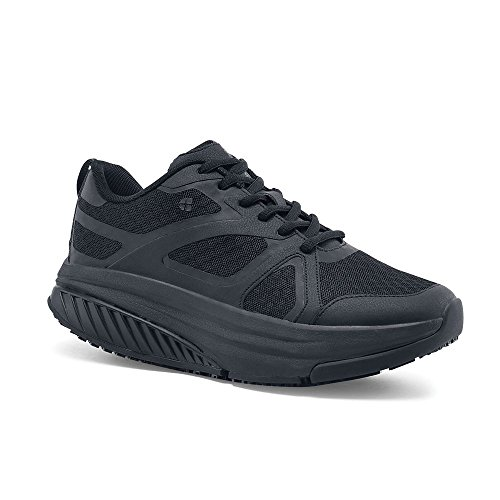 Shoes For Crews Womens Energy II Athletic-Sneaker Low Slip Resistant Work Shoe Black
