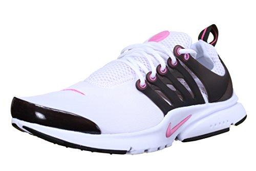 Nike Presto (GS) 833878-105 White/Black/Pink Blast Mesh Girl Kids Running Shoes (6 M US Big Kid) by NIKE