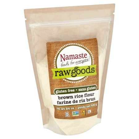 Namaste Foods Raw Goods Gluten Free Brown Rice Flour, 24 oz (Pack of 2)