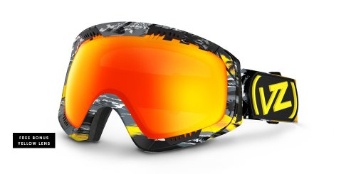 VonZipper Feenom Spherical Snow Goggle, Yellow/Lunar Chrome