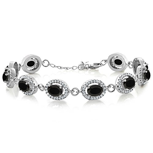 Oval Black Onyx Stone Bracelet - 8