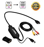 JBingGG RCA to HDMI Converter Cable, AV to HDMI Adapter Cable Cord, 3RCA