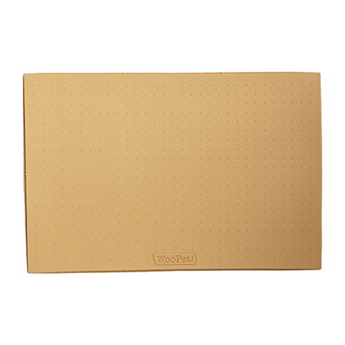 WooPet! Pet Food Mat 24''x16'' Tan Extra Large, Premium Silicone Food Safe Cat or Dog Feeding Mat by WooPet! (Image #3)