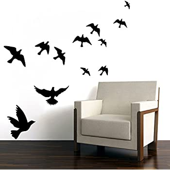 Design With Vinyl Design Removable Wall Decal Birds On Three - Wall decals birds