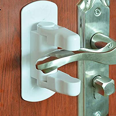 Door Lever Lock (2 Pack) Child Proof Doors & Handles 3M Adhesive - Child Safety