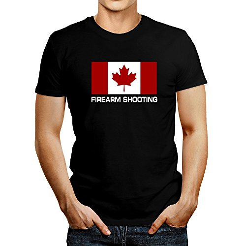 Idakoos FLAG CANADA Firearm Shooting - Sports - T-Shirt