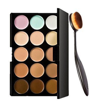 Start 15 Colors Concealer Eye shadow palette kit - Mac Brushes 217