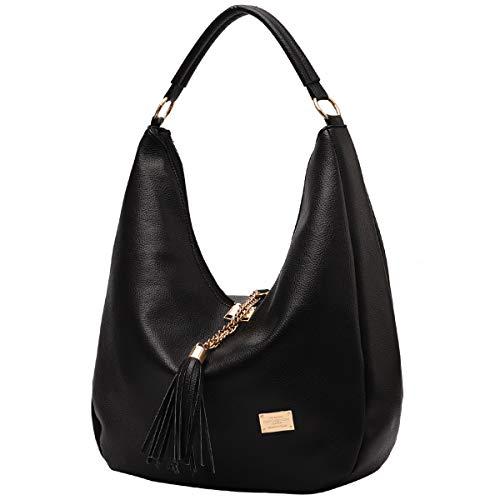 Oversized Hobo Purses Handbags for Women Ladies Leather Shoulder Bag with Tassel ()