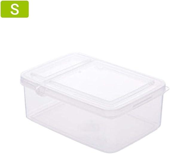Hamkaw Contenedor de almacenamiento de alimentos, caja organizadora de plástico para frigorífico con desagüe y tapa extraíbles, contenedores apilables para guardar alimentos: Amazon.es: Hogar