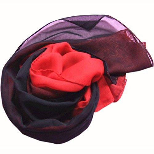 160 donne lungo sciarpa Amlaiworld avvolgere Sciarpe nero sciarpe 50cm scialle colore e sfumatura multicolor chiffon moda di I6RIwUSqx