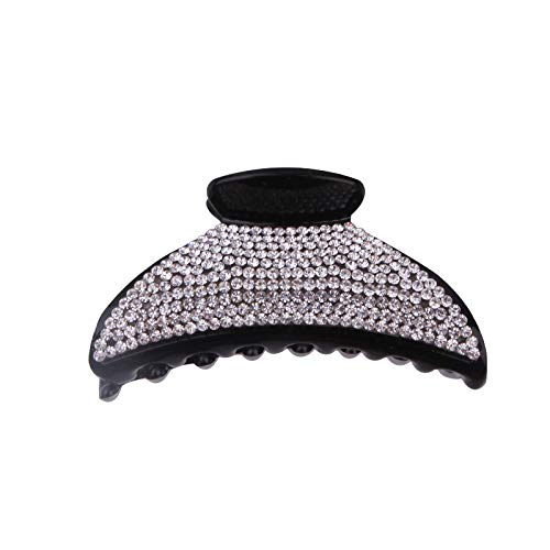 Hair Clip, Horsetail Clip Arc Diamond Versatile Hair Clips Accessories Hair Clips(Black) Hehing