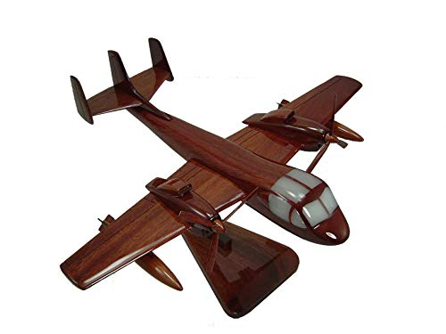 OV1 Mohawk aircraft Mahogany Wood Desktop Airplane Model from Tesaut Desktop Models