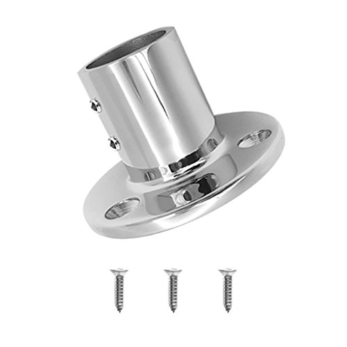 MagiDeal 316 Stainless Steel Boat Hand Rail Fitting 1inch 90 Degree Round Stanchion Base