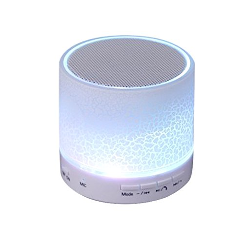Gosear A9 Mini Altavoz Inalá mbrico Portá til Recargable Bluetooth 3.0 con Ranura para Tarjeta TF y Luz LED para iPhone HTC Android Telé fonos Tabletas Portá tiles PC MP3 Reproductores Inteligentes, Blanco G423870036