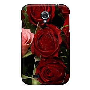 S4 Scratch-proof Protection Case Cover For Galaxy/ Hot Passion Roses Phone Case