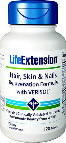 Life Extension Life Extension Hair, Skin & Nails Rejuvenation Formula with Verisol, 120 Tablets (Formula Nails)