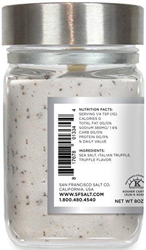 8 oz. Chef's Jar - Authentic Italian Black Truffle Gourmet Sea Salt by San Francisco Salt Company (Image #2)