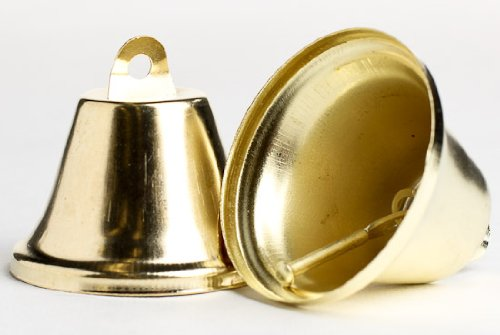 Package of 2 Inch Gold Liberty Bells- 3 Packages of 6 (18 Total Bells)