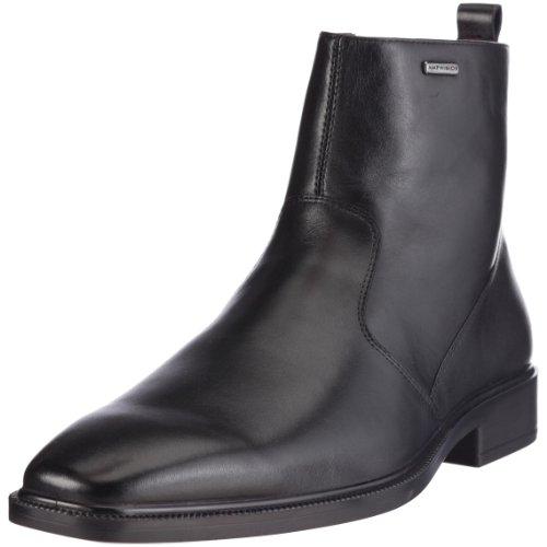 Geox UOMO ALEX ABX U03Y5G 43 C9999 - Botas de cuero para hombre Negro