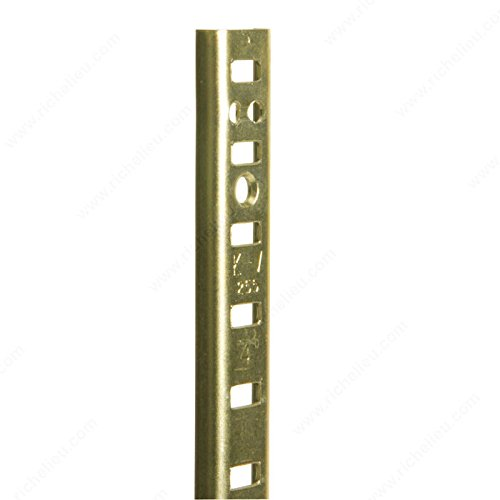 (5/8 U-Shaped Metal Pilaster, Length 84 in, Color/Finish Brass PRO-PACK 2)