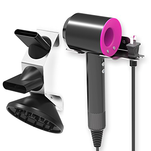 Dyson Supersonic Hair Dryer Wall Mount Holder, Featch Stainless Steel Wall Mount Organizer for Dyson Supersonic Hair Dryer