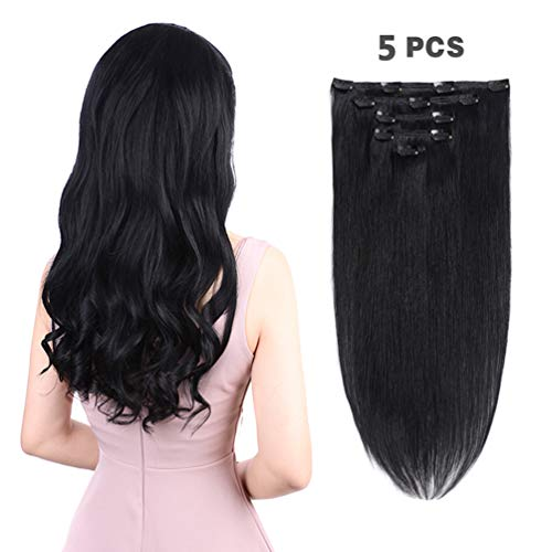 Pieces Remy Extensions Human Black product image