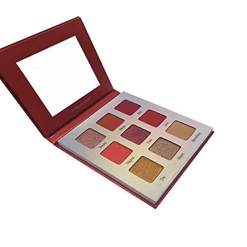 Highly Pigmented Eyeshadow Palette,YMH BEAUTE 9 Bright Colors Eye Shadow Palettes Matte Eyeshadow Makeup Palette Long Lasting Waterproof Colorful Cosmetics (VOLCANO)