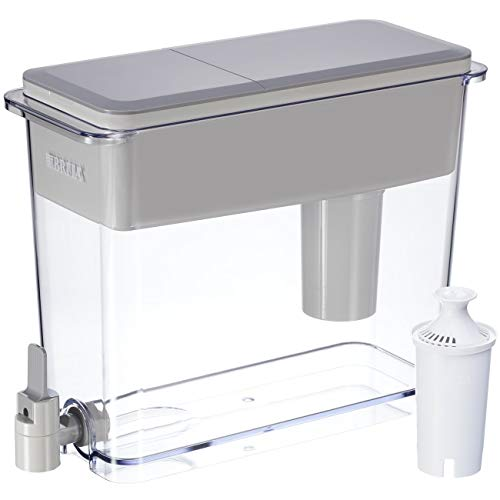 Brita Extra Large 18 Cup Filtered Water Dispenser with 1 Standard Filter, BPA Free - UltraMax, - Lid Replacement Brita