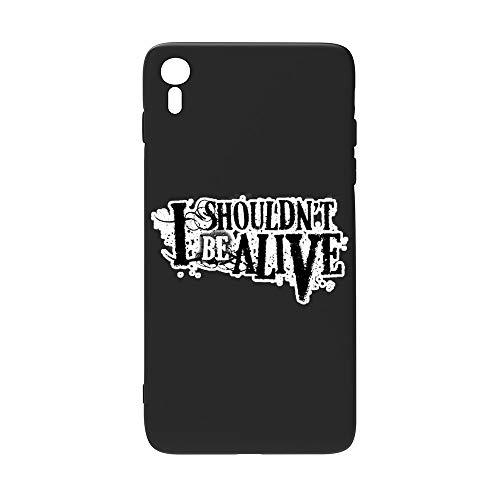 I Shouldn't Be Alive i-Phone XR Case, Clear Protective Heavy Duty Case with Soft TPU Bumper [Slim Thin] Case
