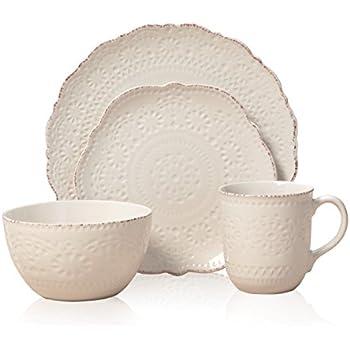 Amazon.com | Pfaltzgraff Filigree 32 Piece Dinnerware Set, Service ...