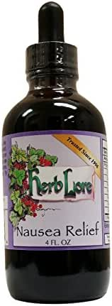 Nausea Relief Tincture - 4 oz - Herb Lore - All Natural Anti Nausea Drops with Ginger and Peppermint