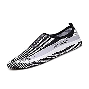 HLM Water Filter Sock Black Blue White Red Size 11 10 8 6 9 .5 Water Beach yoga Swim Proof Pool Tennis Boat Hiking Walking Swiming Running Barefoot Shoes Socks (US Women-9/Men-8-3.1 White&Black)