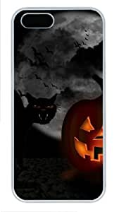 Funny halloween custom iphone 5S covers PC White for Apple iPhone 5/5S