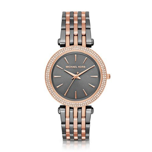 Michael Kors Women's Darci Grey Rose Gold-Tone Watch MK3584