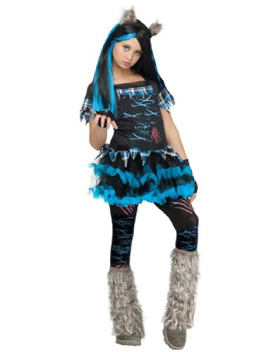 Wick'd Wolfie Costume - Large (Werewolf Costume For Girls)