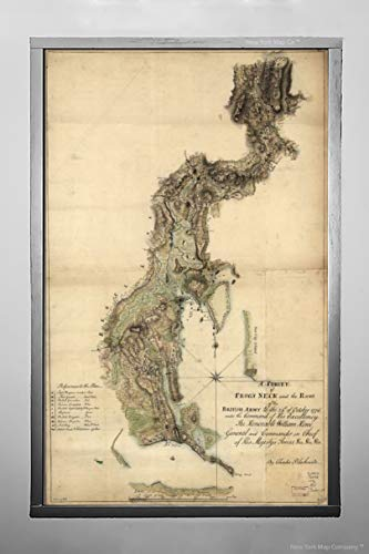 - Throggs Neck (Called Frog's Neck on map), Bronx, New York 1776 Map - American Revolution Era   A Survey of Frog's Neck and The Route of The British Army 14
