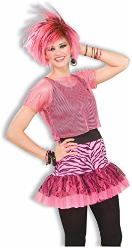Best 80s Costume Ideas (Pop Party 80s Zebra Skirt)
