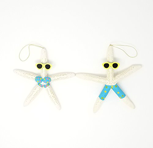 Tumbler Home Natural Starfish Beach Couple - Holiday Ornament – Fun All Year – Perfect for Beach Christmas Tree for $<!--$18.99-->