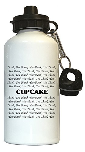 Thank you Cupcake Water Bottle White, 1001