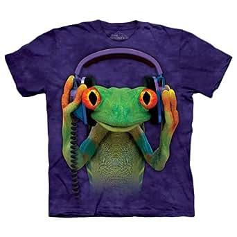 The Mountain Purple Cotton Round Neck T-Shirt For Boys