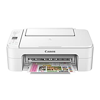 Canon TS3120 Wireless All-In-One Printer, White,21.8 x 17.2 x 8.4