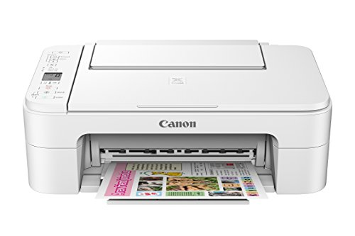Canon TS3120 Wireless All-in-One Printer, White (Best Canon Printer For Mac)