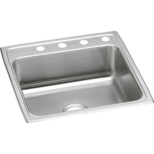 Elkay Lustertone LR22223 Single Bowl Top Mount Stainless Steel Sink ()