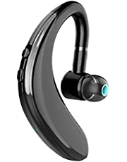 SPARKE Bluetooth Headset 10-Minute Quick Charge Wireless Earpiece with 18 Hours Playtime Car Headset with Mic for Smart Phones (Black)
