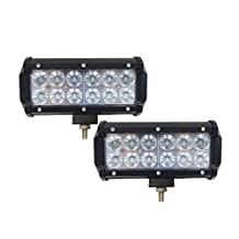 Light Bars,Serpeo 2 Pcs 7 Inch 36W CREE LED Flood Work Light Bar 3600LM 60 Degree Driving Lights for Offroad SUV ATV Jeep 4WD Boat