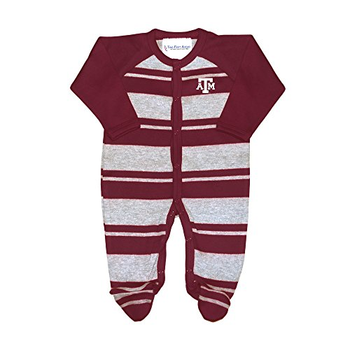 Two Feet Ahead Texas A&M Aggies NCAA Newborn Baby Long Sleeve Rugby Footed Romper (0-3 Months)