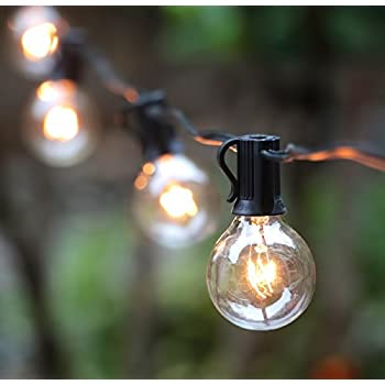 Amazon.com : 50Ft G40 Globe String Lights with Bulbs for Indoor ...