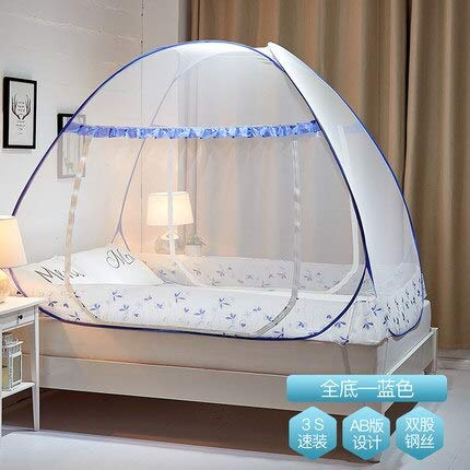 Mosquito Net for Camping bed - Round Dome Mosquito Net for Single Double Bed Adults Bed Canopy for Camp Travel Folding Mesh Bed Tent Kids Bunk Canopy - 1200 Bunk